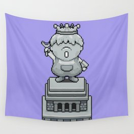 King Pokey Statue - Mother 3 Wall Tapestry