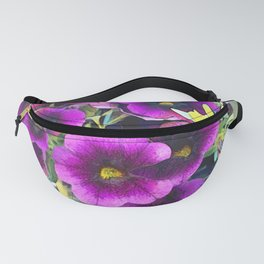 Purple planted Flowers Fanny Pack