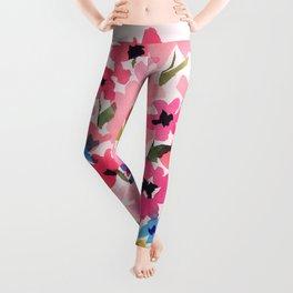 Peachy Wildflowers Leggings