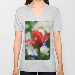 tulips Unisex V-Neck