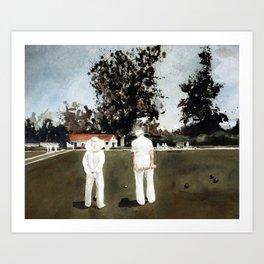 Lawn Bowls man and woman Art Print