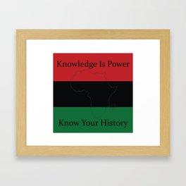 RBG/Pan-African Knowledge Is Power Framed Art Print