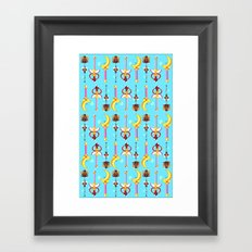 wand pattern  Framed Art Print