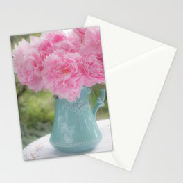 Pitcher of Peonies Stationery Cards