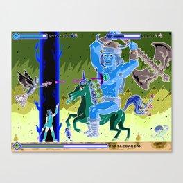 Princess Planet Boss Battle 9 - Battlebarian Canvas Print