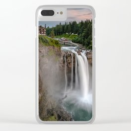 Snoqualmie Falls  5-31-15 (b) Clear iPhone Case