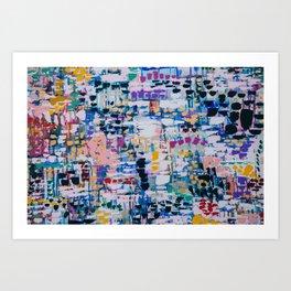 TOWANDA TAKES THE CITY // ABSTRACT MIXED MEDIA ON CANVAS Art Print