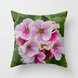 geranium in bloom in the garden Throw Pillow