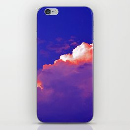 """""""Thunder Clouds #2"""" with poem: Staying With Me #2 iPhone Skin"""