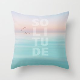 Solitude Calm Waters Throw Pillow