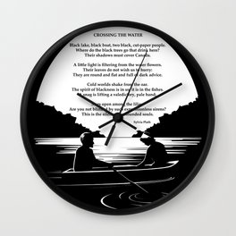 Crossing the Water (poem) by Sylvia Plath Wall Clock