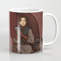hallion Mugs featuring ....to find a way out! by Karen Hallion Illustrations