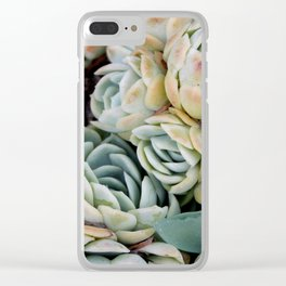 California Potted Succulents Clear iPhone Case