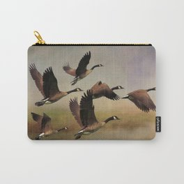 Geese On A Foggy Morning Carry-All Pouch