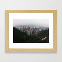 Hong Kong in the palm of my hand Framed Art Print