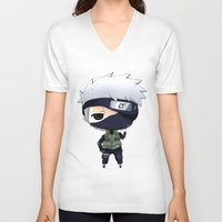 kakashi V-neck T-shirts featuring Kakashi Chibi by Lyre Aloise