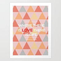 quotes Art Prints featuring Quotes by Hannah Steyn