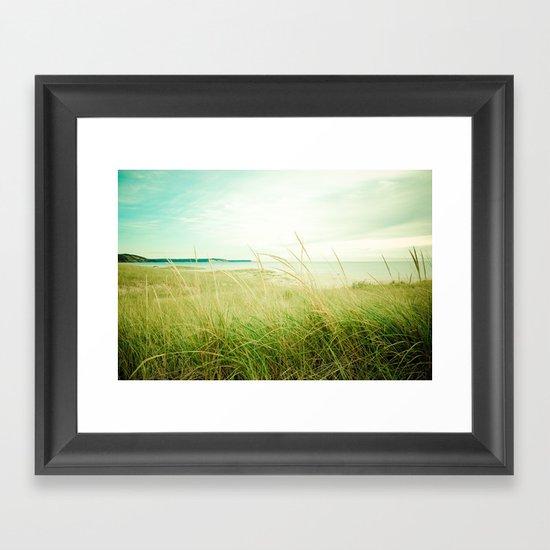 September at the Beach Framed Art Print