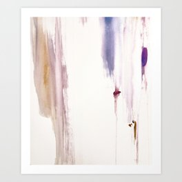 Sugar and Spice [2]: a minimal, pretty abstract piece in pinks, purple, mauve, and tan Art Print