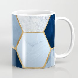 Deco Blue Marble II with Metallic Gold Accents Coffee Mug