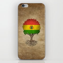 Vintage Tree of Life with Flag of Bolivia iPhone Skin
