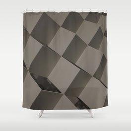 Black Mode 4/4. Fashion Textures Shower Curtain