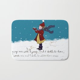 Snow day with bible verse Bath Mat