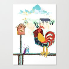 Rick the loud rooster Canvas Print