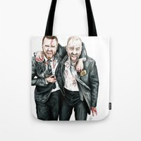 breaking bad Tote Bags featuring Breaking Bad by 13 Styx