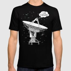 I love stargazing! Mens Fitted Tee MEDIUM Black