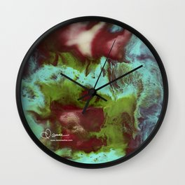Abstract Floral Swirl 2 Wall Clock