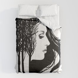 She Whispers Through The Trees Comforters