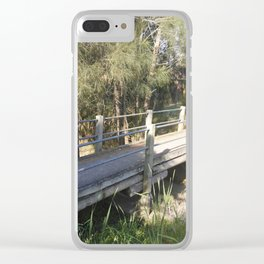timber bridge Clear iPhone Case