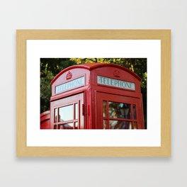 British Telephone Kiosk Framed Art Print