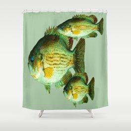 DEEP SEA FISHING GRAPHIC POSTER ART Shower Curtain