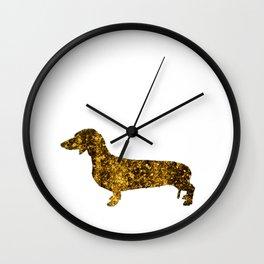 I LOVE my Dachshund II - Luxury glitter dog design Wall Clock