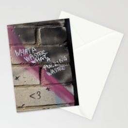 Hare Row - What A Waster Stationery Cards