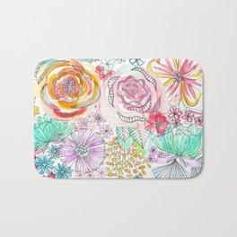Pastel Roses Bath Mat