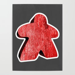 Giant Red Meeple Poster