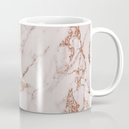 Abstract blush gray rose gold glitter marble Coffee Mug