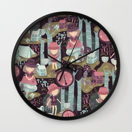 Adventure in Deep Forest Wall Clock