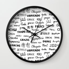 Thank you pattern Wall Clock
