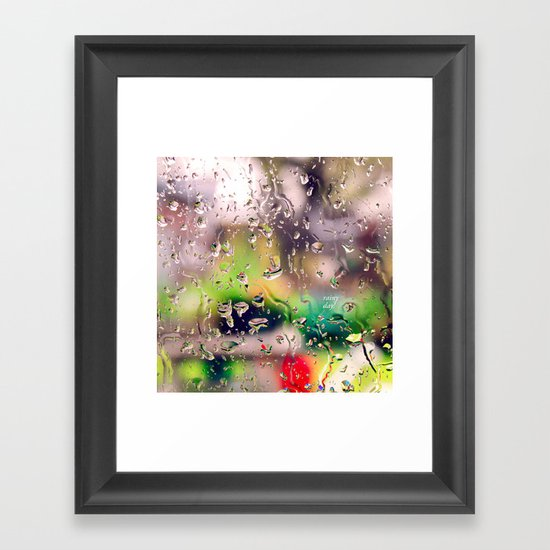 Rainy day! Framed Art Print