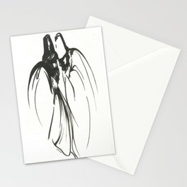 Dervish Whispers Minimalistic Line Drawing Stationery Cards