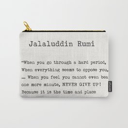 Jalaluddin Rumi quote Carry-All Pouch