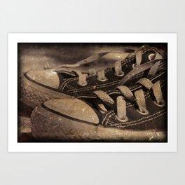 Grungy Kicks Art Print