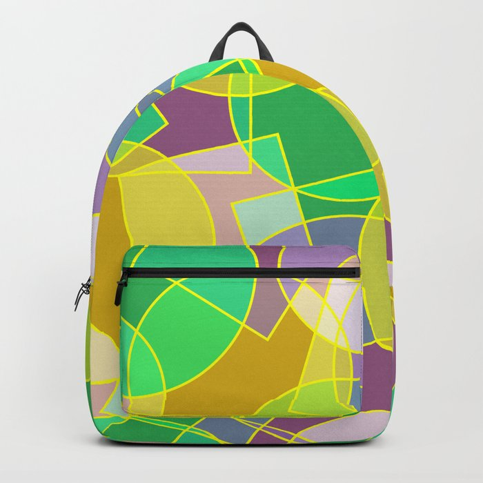 Colorful abstract geometric pattern Backpack