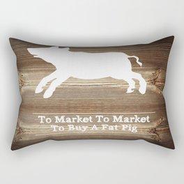 To Market Rectangular Pillow
