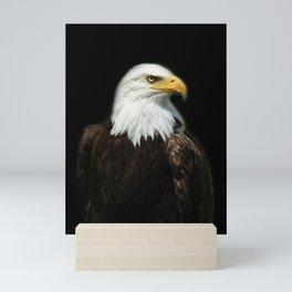 Eagle Portrait Face Bald Headed American Eagle Bald Head Regal Eagle Closeup Wildlife Photo Bird Art Mini Art Print