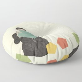 Discovering New Shapes Floor Pillow